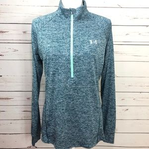 UNDER ARMOUR Zip Front Track Top Size L LG